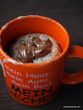 Für Singles: Nuss-Nougat-Tassenkuchen (mug cake) - Schokohimmel