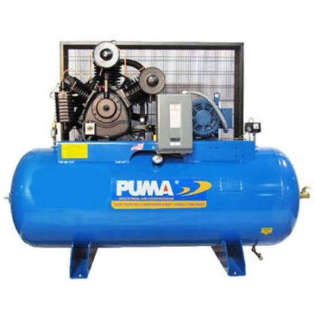 Puma Industries Air Compressor, TUK-75120M, Professional/Commercial/Industrial Two Stage Belt Drive Series, 7.5 HP Running, 175 Max PSI, 230// Voltage/Phase, 80 Gallons, 955 lbs.