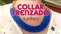 Collar trenzado. Paracord. Collar kumihimo. Kumihimo Necklace with paracord