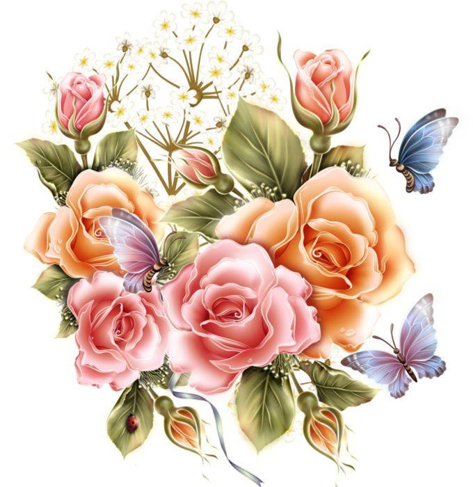 Картинки цветов красивые нарисованные, анимашки зайца смешные