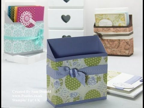 Stampin Up UK Card Holder Box Tutorial - YouTube