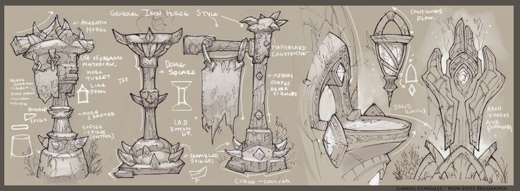 World of Warcraft - In game Prop Studies, Gabe Gonzalez on ArtStation at https://www.artstation.com/artwork/world-of-warcraft-in-game-prop-studies