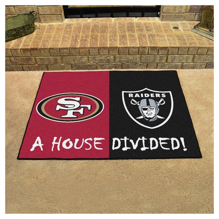 "NFL San Francisco 49ers/Oakland Raiders House Divided Rug 33.75""x42.5"""