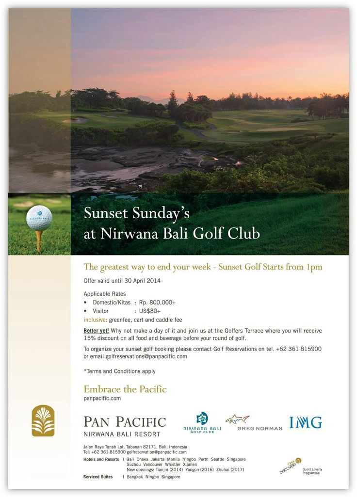 Enjoying Golf with breathtaking sunset views at the Top Greatest 100 Golf Courses in the World #PanPacificBali #NirwanaBaliGolfClub #Bali #Golf #Sunset #GolfDigest