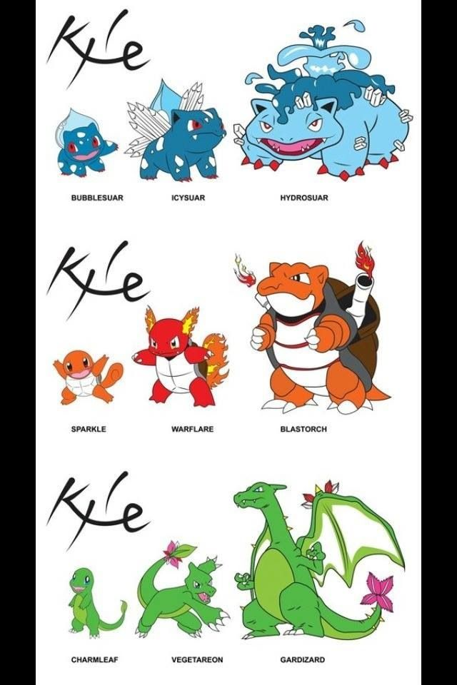 I would totally choose the fire squirtle or the water