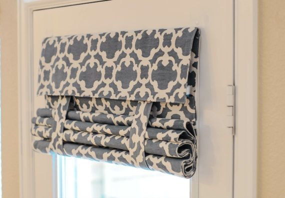 NEW!! Blue Pattern French Door Curtain (Blue Pattern Fabric pictured)