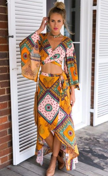 ~ ethnic-chic maxi-dress ~ #ethnique #ethnic #robe #dress