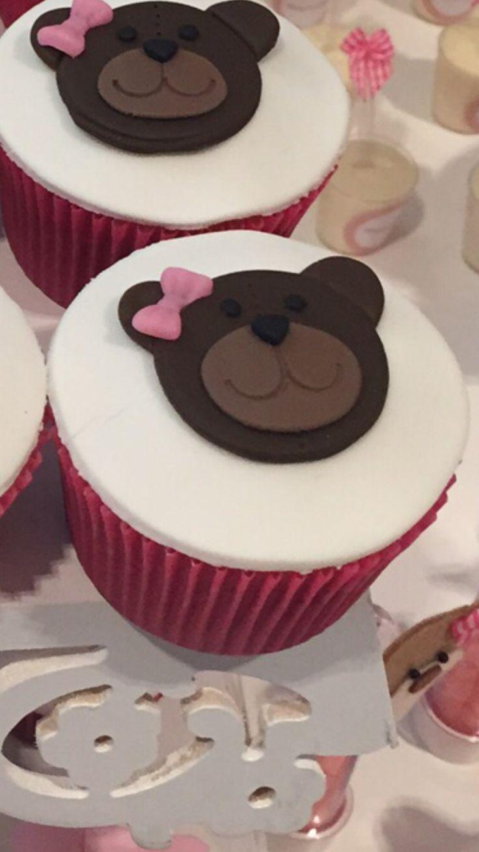 Cupcake, decorating, urso, ursa, decoração, DIY