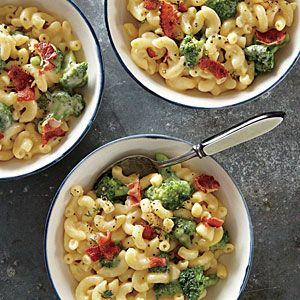 Broccoli Mac and Cheese Recipe | Cooking Light #myplate #dairy #protein #veggies
