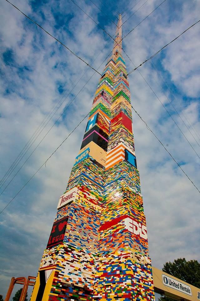 A Delaware school district built a Lego tower that set a new Guinness World Record for the tallest structure made of interlocking plastic bricks. Must have taken a lot of patience and teamwork! (via Mashable)