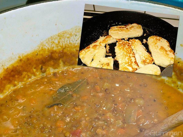 Vegetarisk gryta för köttälskare + haloumi. ©Gumman