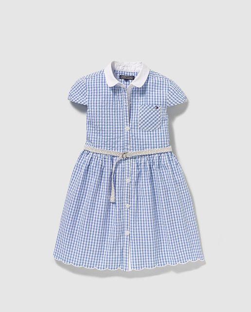 Vestido de bebé niña Tommy Hilfiger con cuadros vichy