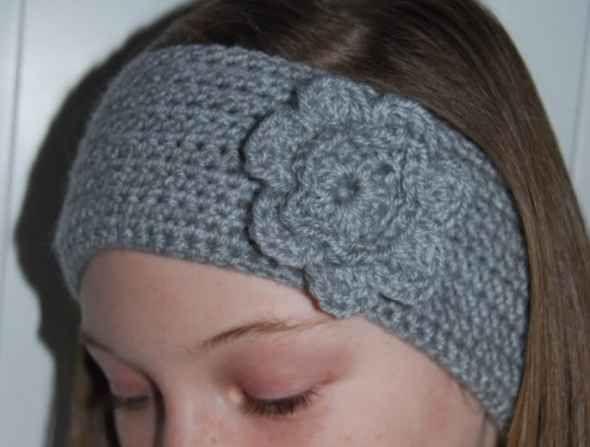 Easy crochet headband earwarmer