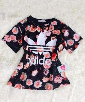 Blusa Floral Adidashttp://loja.ohceus.com/                                                                                                                                                     Mais