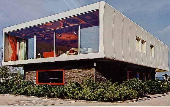 Prefab modular fiberglass house by Wolfgang Feierbach - constructed 1968-1970 in Altenstadt Germany