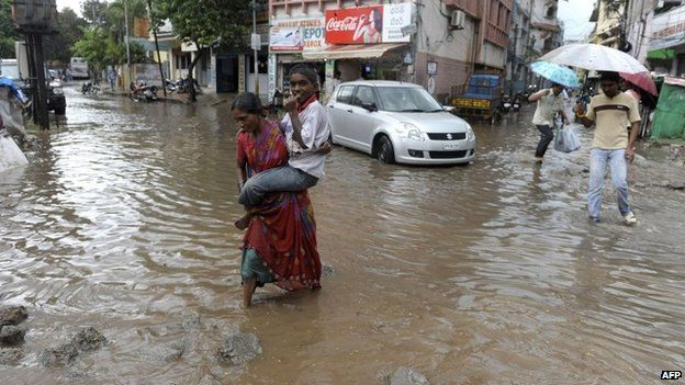 Parts of Orissa and Andhra Pradesh states have suffered heavy flooding in recent days
