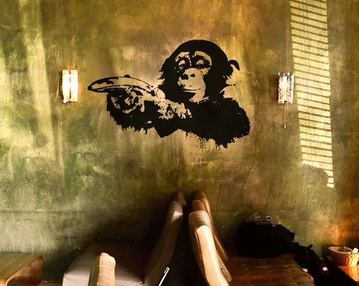 41 best banksy wall sticker images on pinterest banksy wall stickers room tiles and vinyl - Wandsticker graffiti ...