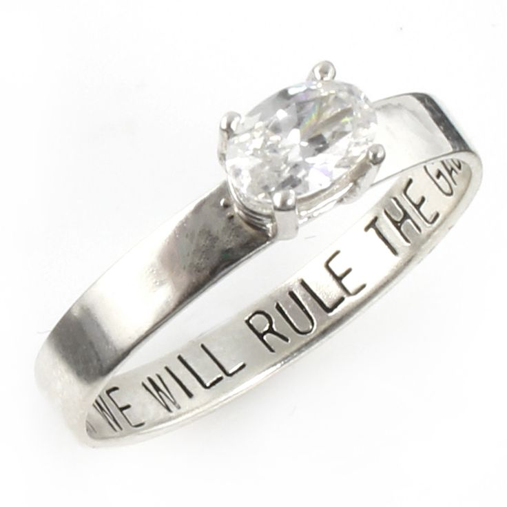 """Star Wars """"Together We Will Rule the Galaxy"""" Engagement Ring - Spiffing Jewelry"""