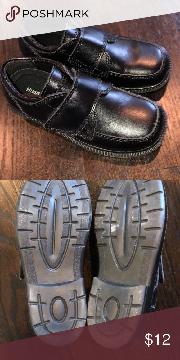 Little Boys dress shoes -Hush Puppies Black. Excellent condition. Hush Puppies Shoes Dress Shoes