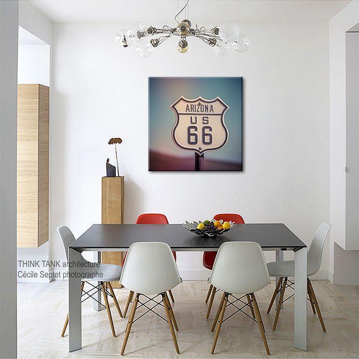 Canvas Bedroom Decor Route 66 Sign Arizona Kitchen California Art Large Kids Room Boy Girl