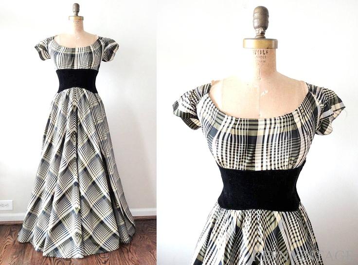 black and white, floor length dress