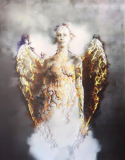 Angelic Fragments, 2015 by KarlGustav Sevenster #KarlGustavArt  #AngelicVoices
