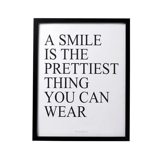 Wandbild Kunstdruck gerahmt Bloomingville SMILE 57cm, http://www.amazon.de/dp/B0064M2PGA/ref=cm_sw_r_pi_awdl_xs_heinyb3K7K4GB