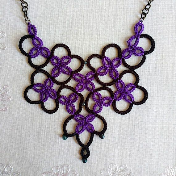 Hey, I found this really awesome Etsy listing at https://www.etsy.com/uk/listing/566237775/tatted-eclectic-purple-necklace