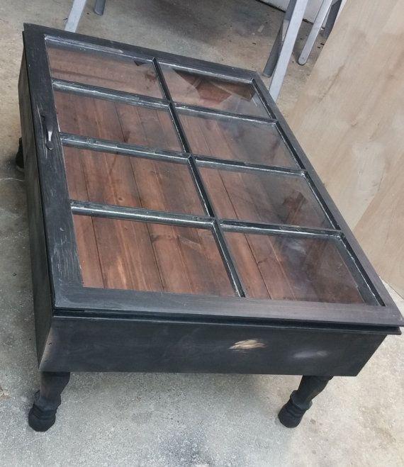 Table basse-Table bois récupéré de la Table  Table Shadow Box