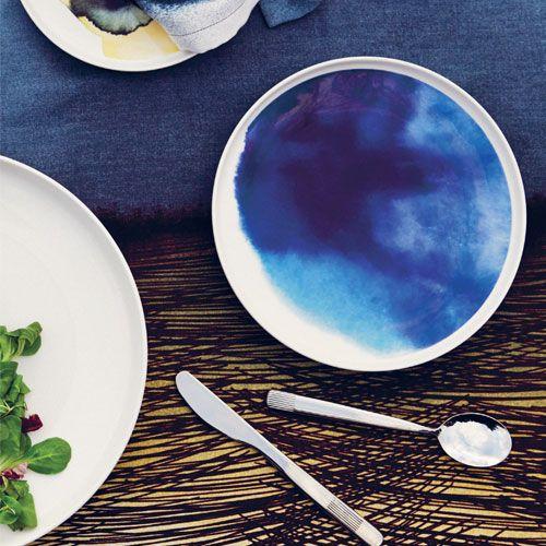 Marimekko Weather Diary Blue/White Dinner Plate - Marimekko Weather Diary Dinnerware