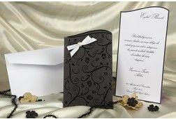 #FairePart #Mariage #Noir-Faire-part mariage sobre et élégant http://www.tour-babel.com/faire-part-mariage/faire-part-noir-blanc-rouge.html?p=1