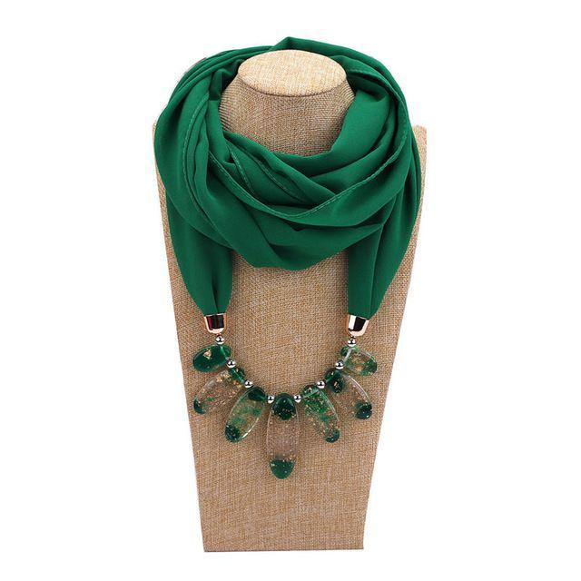 Women Ethnic Style Pendant Jewelry Necklace Tassel Scarf Multi colour Shawl