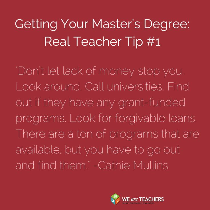 Advice from real teachers on balancing teaching and getting a master's degree.
