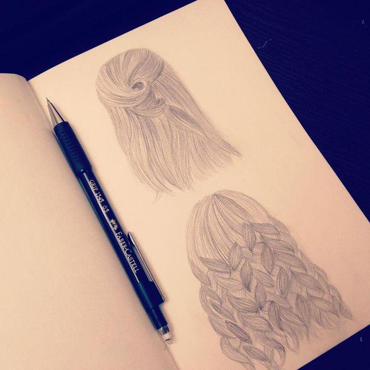 Рисунок карандашом Рисование волос