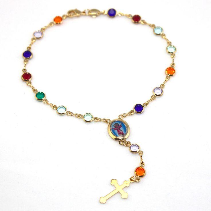 "14k Gold Filled Catholic Rosary Bracelet Divine Child-Pulsera Oro Rosario 8"" Car #pulserasdemoda #pulsera #goldfilledchain #goldfilledjewelry #goldfilledjewelry #Azabache #turkisheye #evileyebracelet #evileyes #reikijewelry #yogajewerly #yogajewellery #spiritualjewelry #mysticaljewelry #protectionamulet #protectionjewelry #luckycharms"
