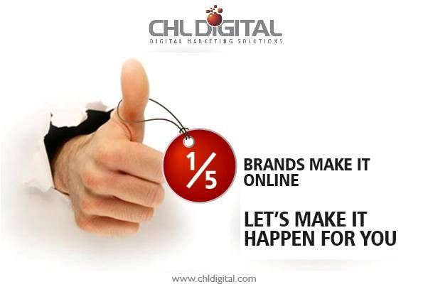 Only one among five #brands get a chance to grow #online, Be that ONE. Make it happen for you at www.chldigital.com.