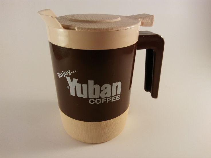 RARE! Yuban Coffee Decanter 13-oz Pitcher Continental Plastics - FREE SHIPPING!
