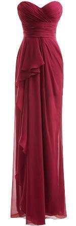 Burgundy Bridesmaid dress for Autumn Fall wedding