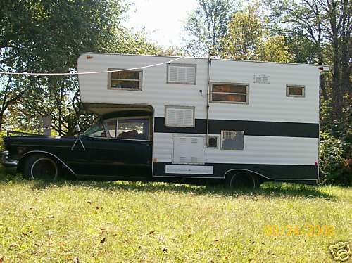 There Irt Is Its A 1957 Hearse Ambulance Converted To Camper All Stand Alone