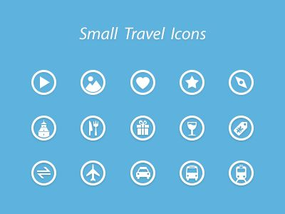 Small Travel Icons by Hawk Jon | Star UX