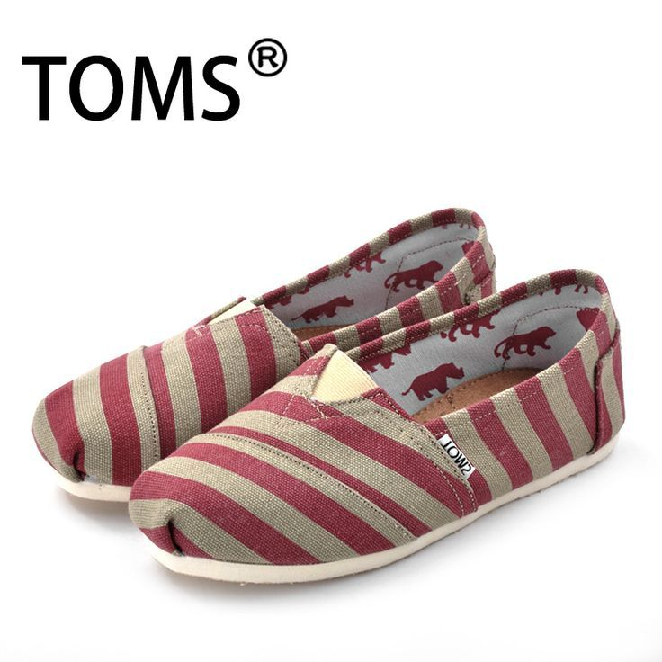 Toms Shoes Women Zebra Striped Red toms outlet
