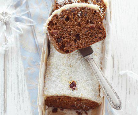 Rezept: Weihnachtlicher Honigkuchen mit Kokosglasur