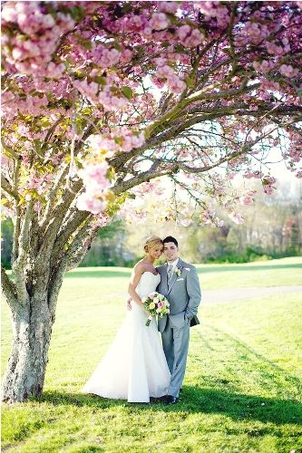 Under the Cherry Blossoms | Pink and Green Wedding | Spring Wedding | Perfect Wedding Guide Wedding Blog