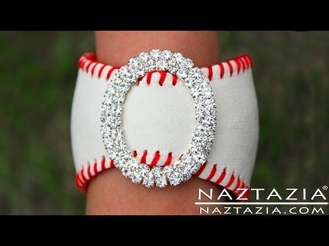 ▶ DIY Learn How To Make Baseball Cuff Bracelet (leather bracelets from baseballs jewelry jewellry) - YouTube