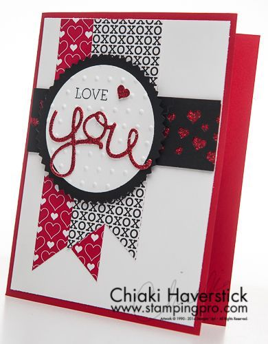 Stampin up hello you framelits and crazy about you stamp set. Great valentines card, or anniversary card.