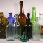 Lavar uma garrafa de vidro muito suja
