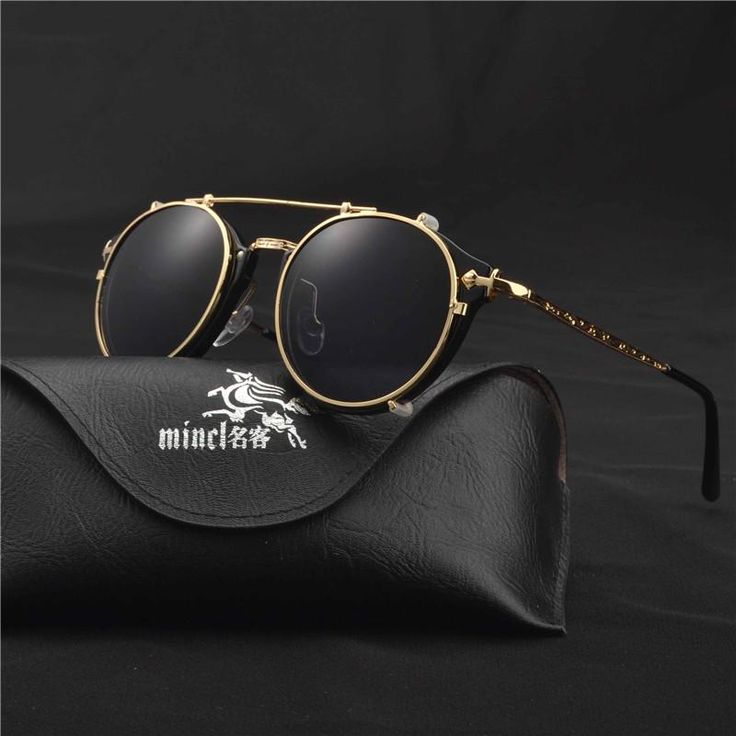 Optics Eyeglasses Frames Men Women With 1 Clip On punk Sunglasses 2019 hot Glasses Male Driving Spectacle Myopia FML – Babagala.net