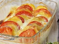 Duo pommes de terre-tomates au safran