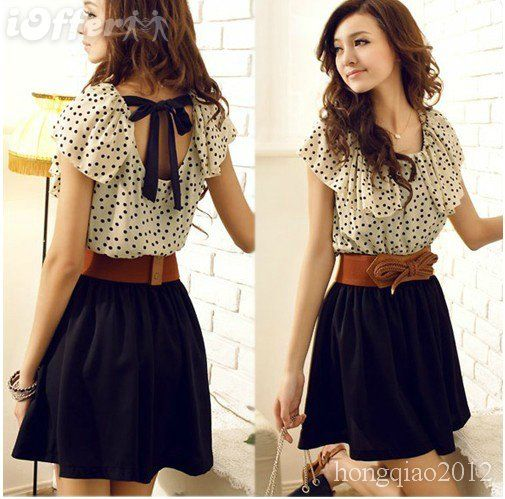 Blouses, Summer Dresses, Fashion, Polka Dots, Skirts, Cute Dresses, Cute Outfit, Chiffon Dresses, Belts