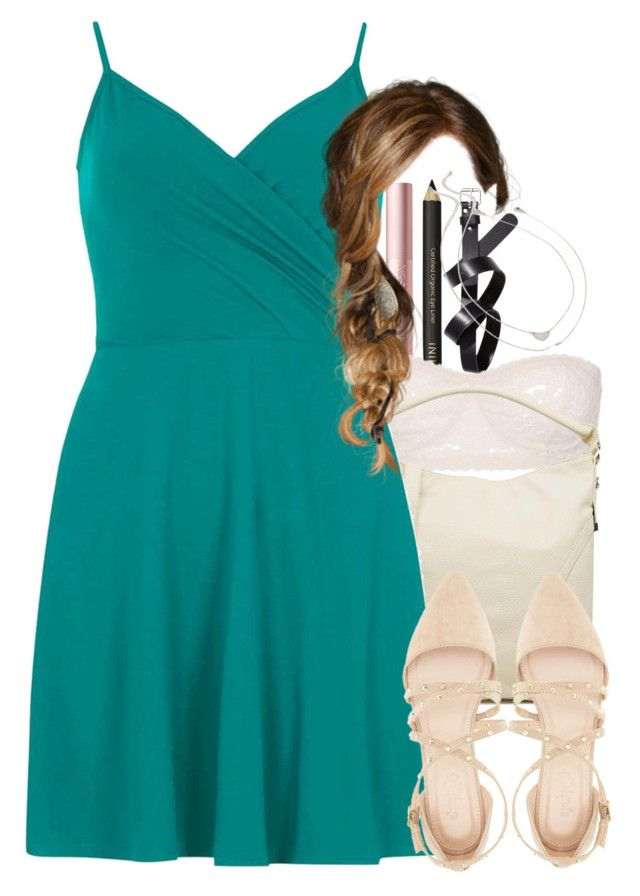 """""""Katherine inspired waitress outfit"""" by tvdstyleblog ❤ liked on Polyvore featuring H&M, French Connection, Dorothy Perkins, Charlotte Russe and Forever 21"""